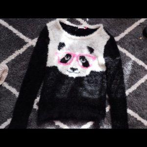 Furry panda Sweatshirt